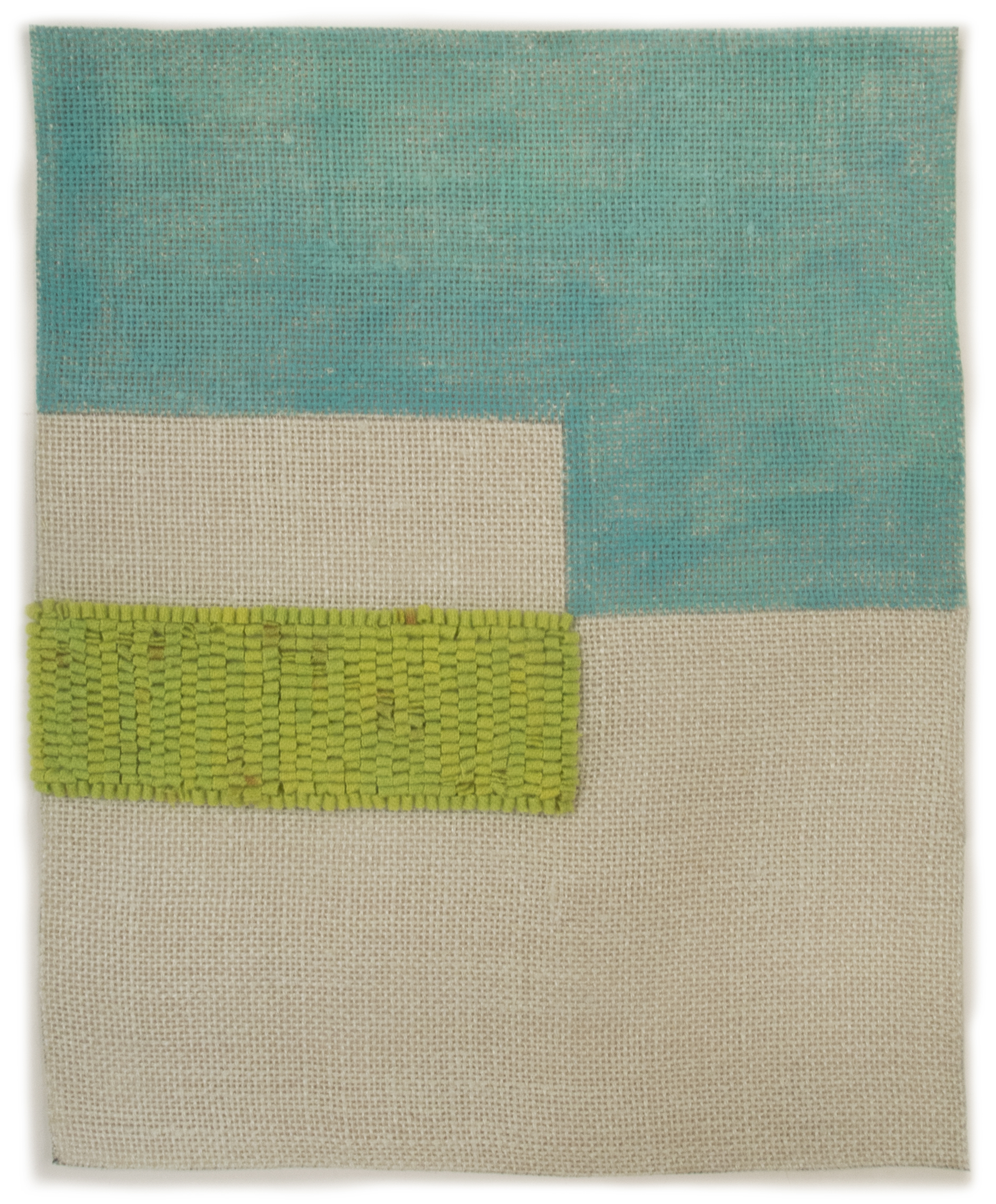Altoon Sultan: 2013 #10, 2013, hand dyed wool and egg tempera onlinen, multi part, 15 x 12