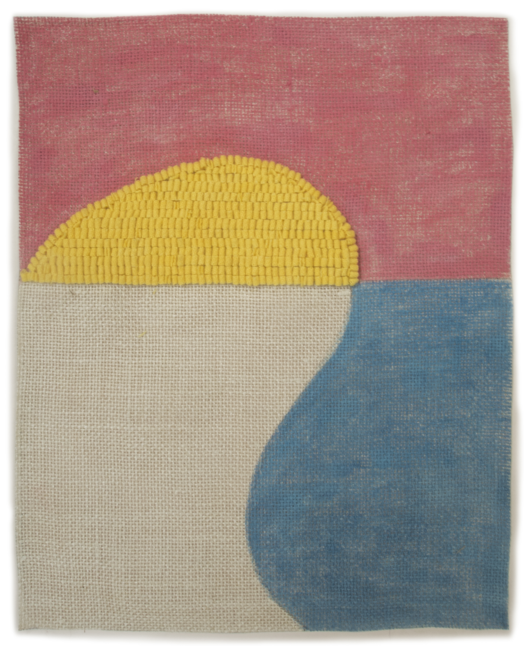 Altoon Sultan: 2013 #12, 2013, hand dyed wool and egg tempera onlinen, multi part, 15 x 12