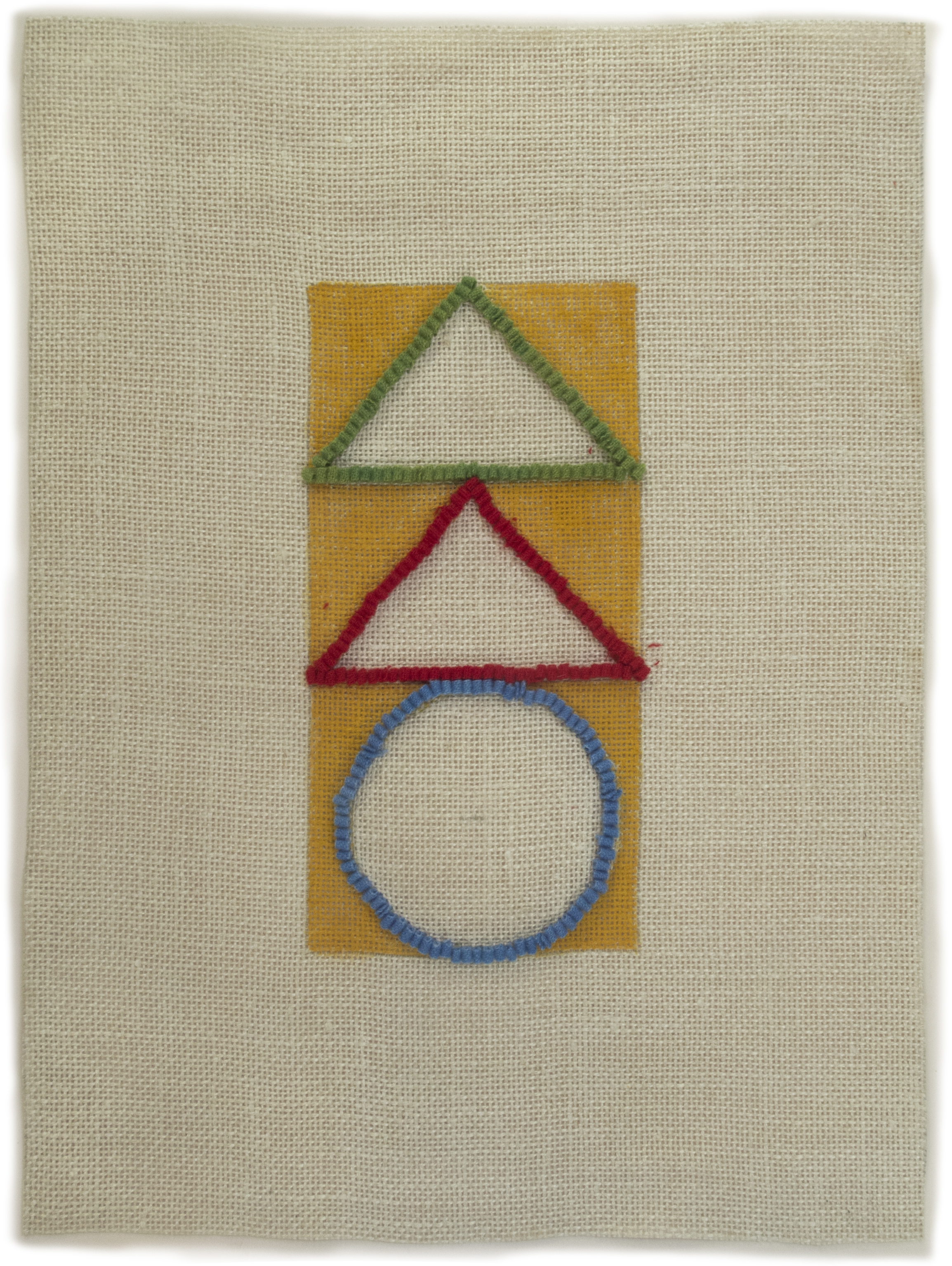 2013 #6, 2013, hand dyed wool and egg tempera onlinen, multi part, 18 x 13 1/2